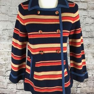 Marc Jacobs Size M Cardigan Blazer Striped Navy